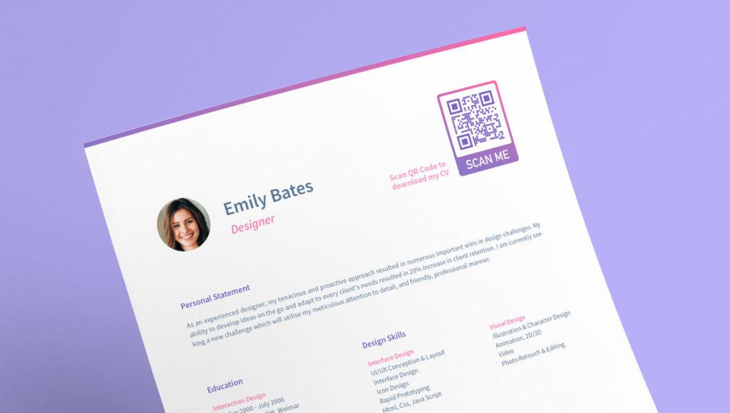 QR Code idea on a resume