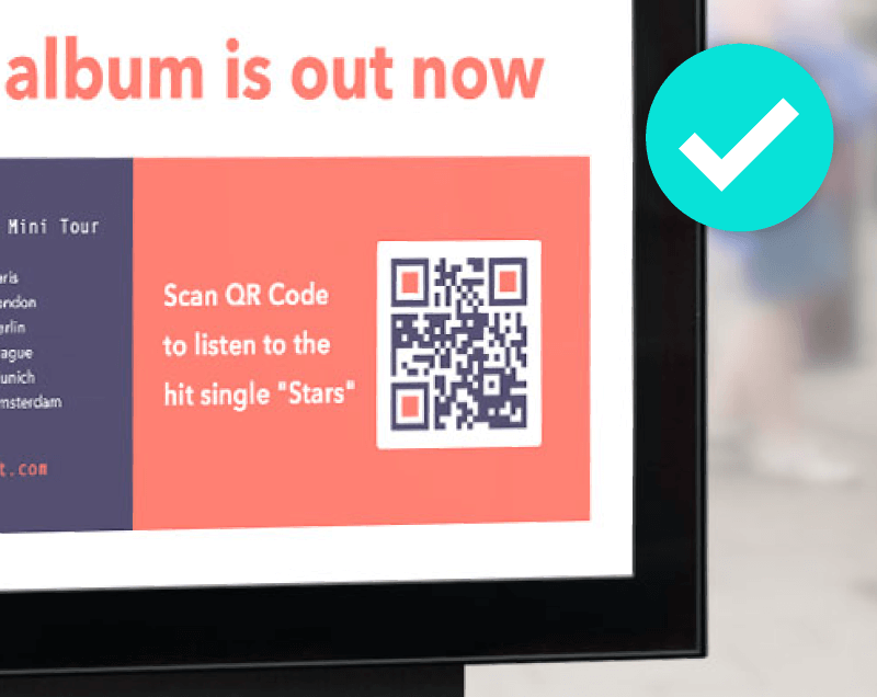 Don't let your QR Code blend into the background