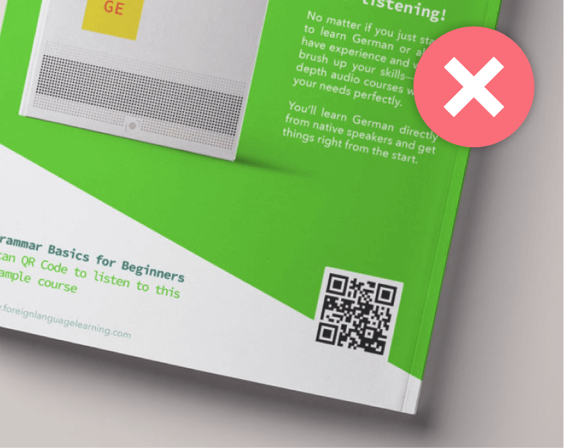 Guide your audience with a call to action frame on your QR Code