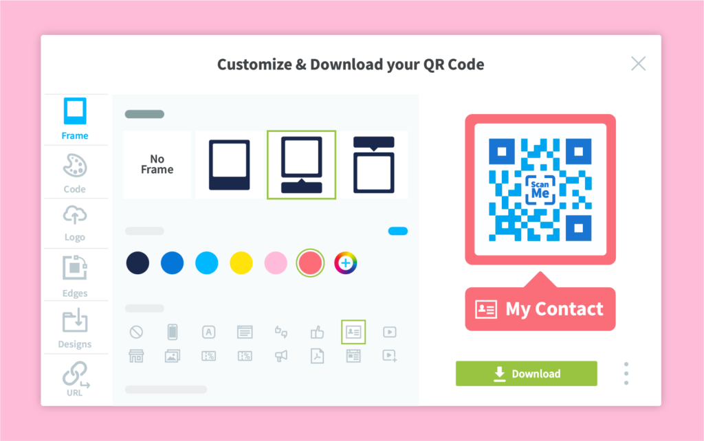 Full QR Code customization with QR Code Generator PRO