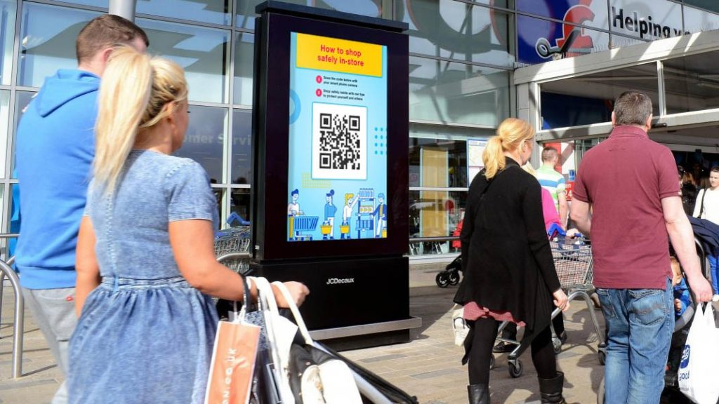 Social creative agency Hey Honey proposed a QR Code based project to help grocery shoppers stay safe