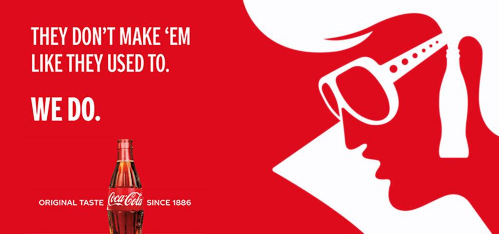 A famous Coca-Cola print ad