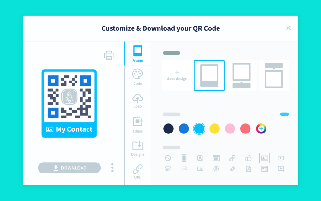 QR Code customization options with QR Code Generator PRO