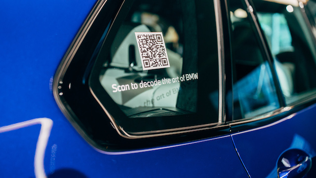 QR Code on a BMW exhibition