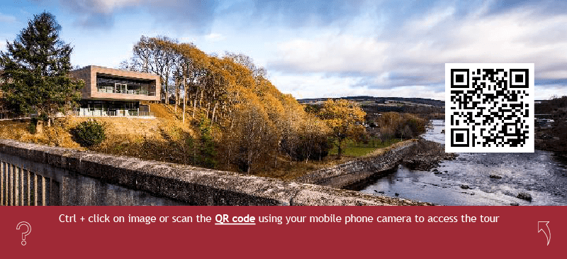 A QR Code provides no-touch, instant access to the Pitlochry Dam tour