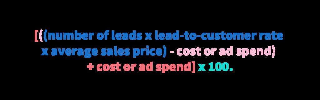 Marketing return of investment formula