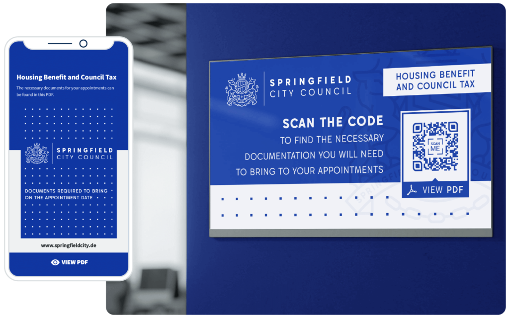 A QR Code makes it easier to find the most accurate information about what documents are required for appointments