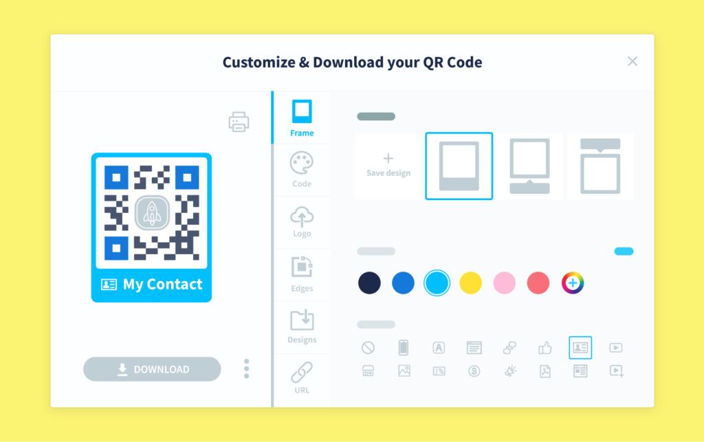 Demo of QR Code Generator PRO's customization features