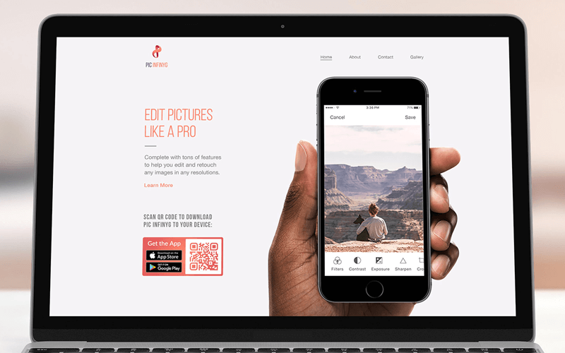 An App QR Code on a website to bridge the gap between desktop and mobile users