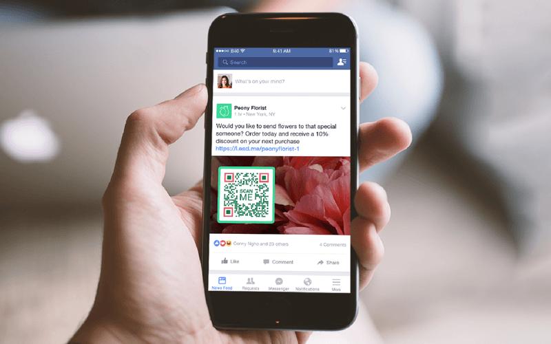 A Coupon QR Code idea on a Facebook post