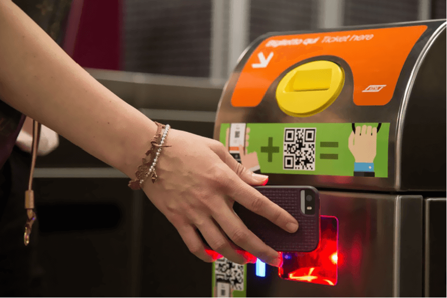 QR Codes enable public transit access with mobile tickets