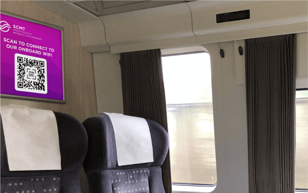 QR Code to connect to WiFi on the train