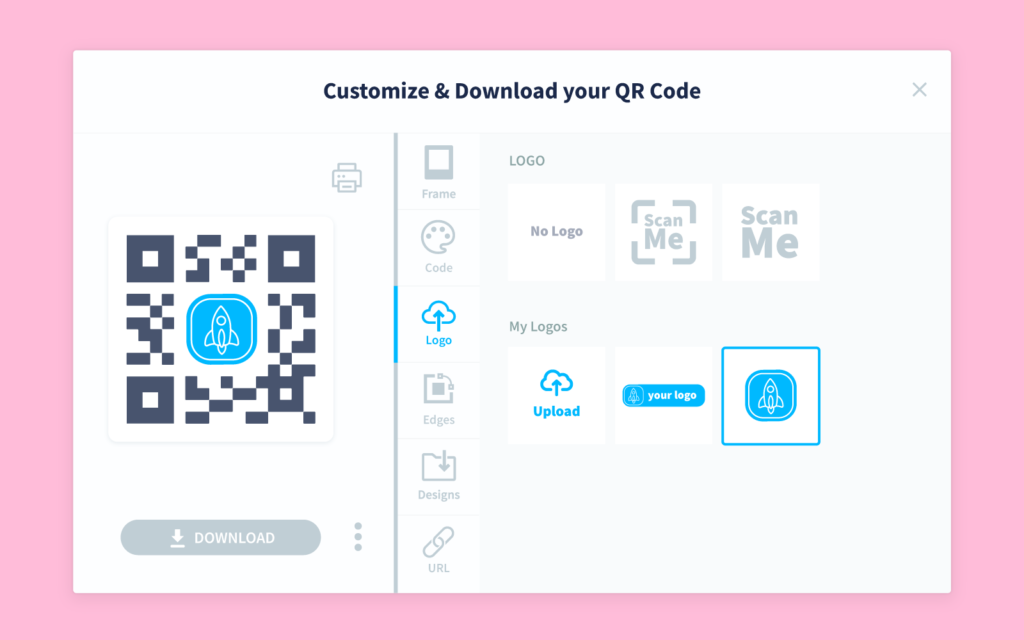 An overview of QR Code customization options in QR Code Generator PRO