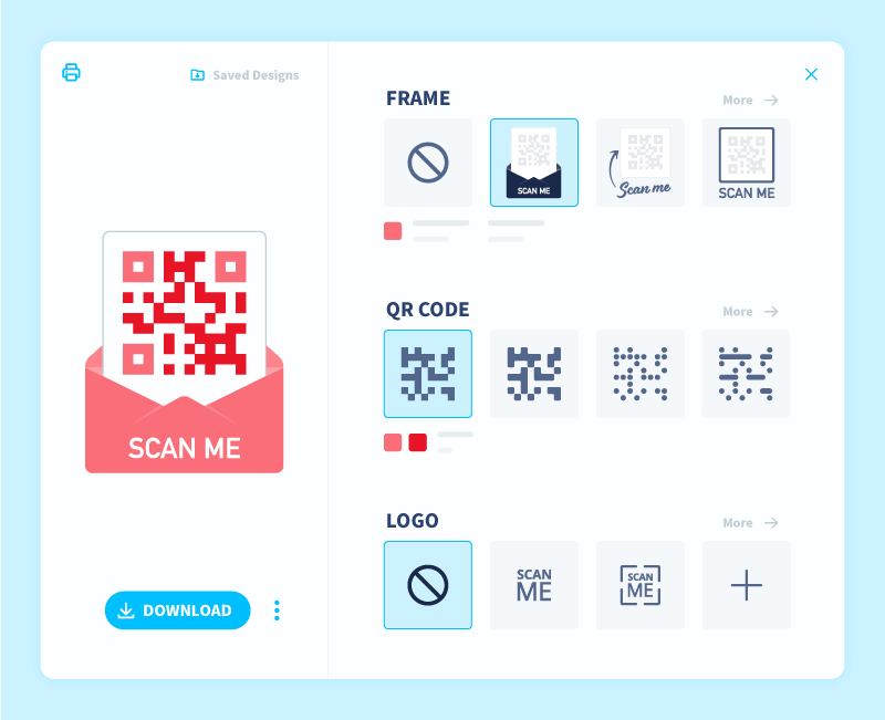 QR Code customization options in QR Code Generator PRO