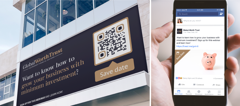 QR Codes can be accessed two ways: By scanning the QR Code image or using the short URL it comes with