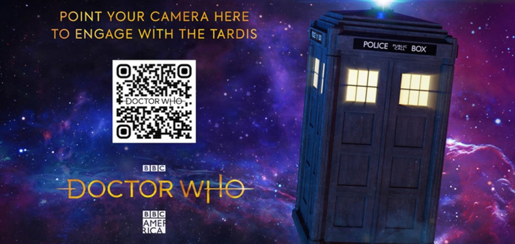 QR Codes to enable user access to augmented reality within Doctor Who