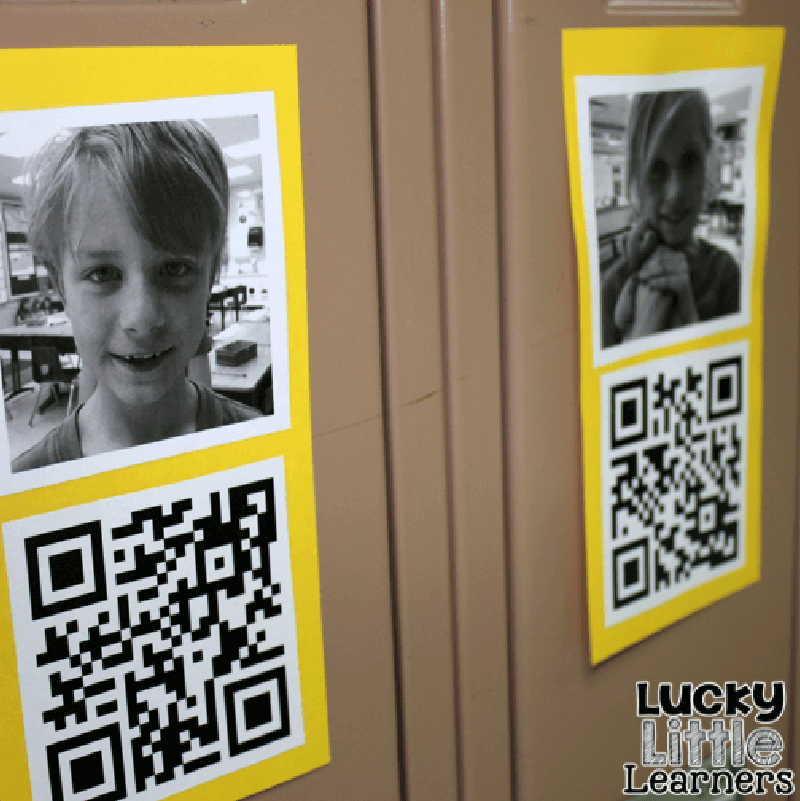 QR Code posters introducing students to each other