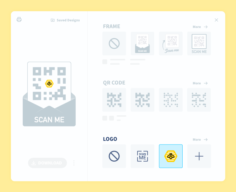 Demonstration of how to add a custom logo to a QR Code in QR Code Generator Pro.