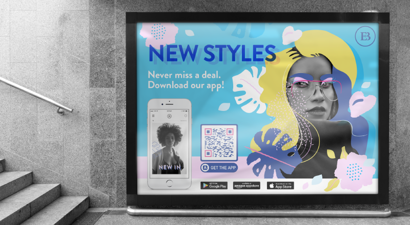 Example of a QR Code on a billboard ad.