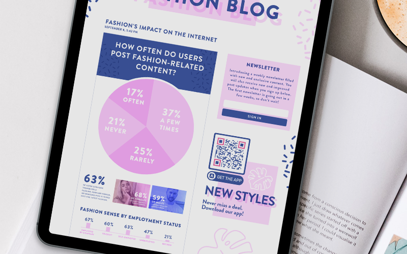 A QR Code on a blog article infographic prompting readers to scan the code and download their app