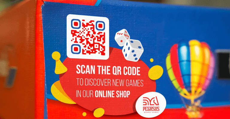 Dynamic URL QR Code on a display prompting people to scan and discover new games in an online shop