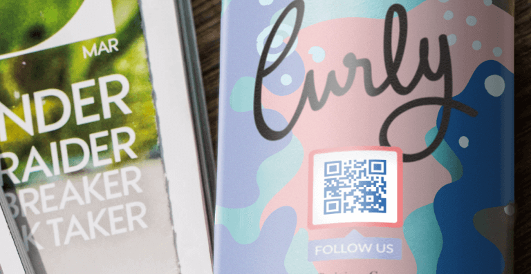 Social Media QR Code prompting people to scan and follow the company's social media channels
